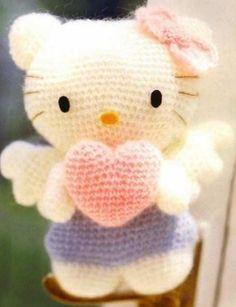 Amigurumi Hello Kitty Ángel - Patrón Gratis en Español (5 páginas) aquí: http://de.slideshare.net/mardella/hello-kittya