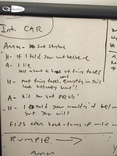 Dry erase board from when we were writing #OnceUponATime pilot over 4 years ago.  Hope to see ya March 1!