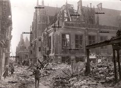 Rouen 1944 The Courthouse after the bombing ...