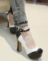 Chunky Heel Ankle Strap Patent Leather Womens Shoes  $35.99