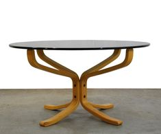 38d945fa22f0 For sale  Smoked glass  Falcon  coffee table by Sigurd Ressell for Vatne  Möbler