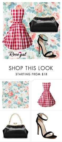 """""""Rosegal I/20"""" by mileypiters ❤ liked on Polyvore featuring SANDERSON, vintage, red, woman and rosegal"""