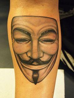 Vendetta Tattoo Meaning 2019 T Rex Tattoo, Rip Tattoo, Mask Tattoo, V For Vendetta Tattoo, V For Vendetta Mask, Mother Daughter Tattoos, Tattoos For Daughters, Rest In Peace Tattoos, Anonymous Tattoo