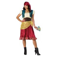 Gypsy Costume Adult Fortune Teller Halloween Fancy Dress | Clothing, Shoes & Accessories, Costumes, Reenactment, Theater, Costumes | eBay!