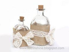 Decorated Shabby Chic Bottles | 20 DIY Shabby Chic Decor Ideas