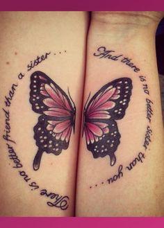 Tu hermana siempre será tu mejor amiga, conmemora su amistad con un tatuaje.