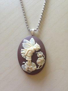 Garden Fairy #cameo pendant necklace