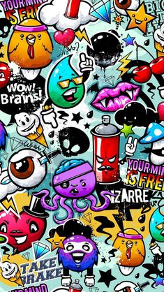 Graffiti Awesome Wallpaper for iPhone - Street Art Cartoon Wallpaper, Graffiti Wallpaper Iphone, Beste Iphone Wallpaper, Wallpaper Doodle, Book Wallpaper, Girl Wallpaper, Disney Wallpaper, Wallpaper Ideas, Screen Wallpaper