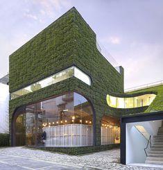 Зеленый магазин Ann Demeulemeester в Сеуле
