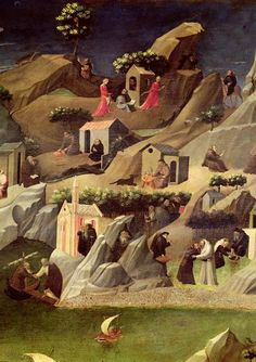 The Thebaid - Fra Angelico, Uffizzi