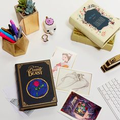 What I love most in the world are my *office supplies*   Disney Beauty And The Beast Note Card Box Set