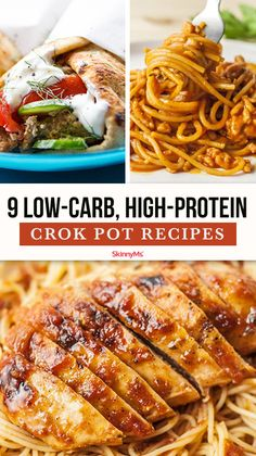 Were sharing 9 low-carb high-protein crock pot recipes to add to your meal plan. They'll help you lose weight and take charge of your health. High Protein Snacks, Low Carb High Protein, Low Carb High Fat, High Protein Meal Plan, Protein Foods, Easy High Protein Meals, Protein Dinners, High Protein Dinner, Diet Foods