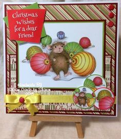 House Mouse card making pad from Joanna Sheen Christmas Wishes, Christmas Crafts, Harvest Mouse, House Mouse Stamps, Penny Black Stamps, Cute House, Tatty Teddy, Handmade Christmas, Home Crafts