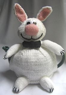 Rabbit has a choice of two different bow ties – one for evening, and one to make him look posh and intellectual – though I don't think this works! Tea Cosy Knitting Pattern, Knitting Yarn, Knitting Patterns, Teapot Cover, Knitted Tea Cosies, Tea Cozy, Tea Art, My Cup Of Tea, Bow Ties
