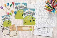 Bowling Birthday Party Printable Invitations, Decorations, and Activities