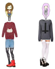 """Chibi Inspired #16"" by thatemo ❤ liked on Polyvore"