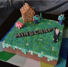 Minecraft Walmart Birthday CakeMinecraft Cake