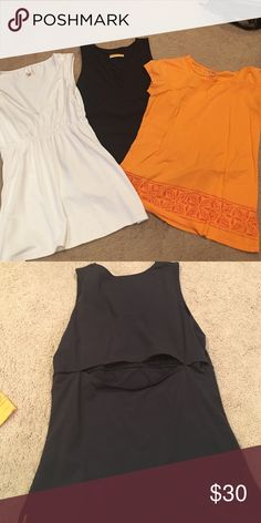 Lucy workout tops Super soft and comfortable Lucy tops. $30 for all three.  Make an offer, let me know if you are interested in only one and I will split them Lucy Tops Tank Tops