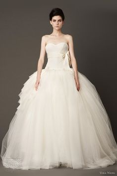 vera wang wedding dresses fall 2013 strapless tulle ball gown