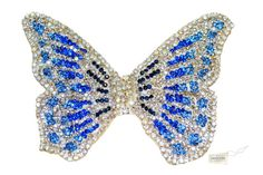 Swarovski crystal Butterfly Blue Silver White by TheCrystalShoeCo, £35.00