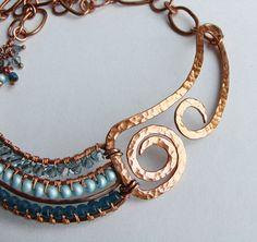 necklace/blue/copper