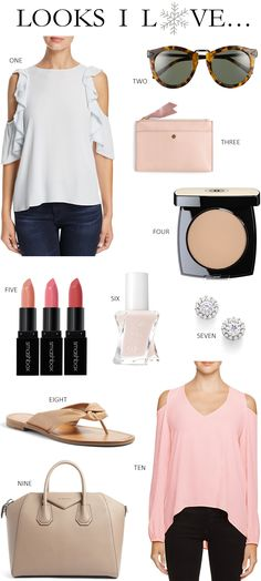 Here are the perfect tops to pair with your favorite jeans. These beautiful cold shoulder tops are perfect for spring and summer.