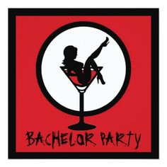 Shop Red black martini girl bachelor party invites created by CelebrateEveryDay. Bachelor Party Invitations, Unique Invitations, Invites, Red Black, Martini, Rsvp, Announcement, Cards, Night