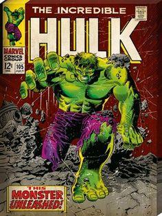 Marvel The Hulk Poster - Comic Cover Art size Marvel Comics Art, Marvel Comic Books, Comic Books Art, Comic Art, Book Art, Comic Superheroes, Ms Marvel, Marvel Characters, Captain Marvel