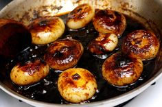 Balsamic cipolini onions. Can be served as a side dish with a roast or as part of antipasti platter