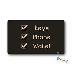 Keys Phone Wallet Entrance Doormat Door Mat Machine Washable Rug Non Slip Mats Bathroom Kitchen Decor Area Rug 30x18 inch -- You can find more details by visiting the image link. (This is an affiliate link and I receive a commission for the sales)