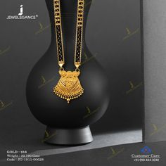 Plain Gold Mangalsutra gms) - Plain Gold Jewellery for Women by Jewelegance Gold Ring Designs, Gold Jewellery Design, Gold Jewelry, Jewelery, Indian Wedding Jewelry, Wedding Jewelry Sets, Bridal Jewelry, Gold Jhumka Earrings, Gold Necklace