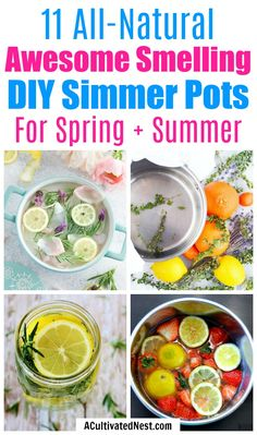 11 DIY Simmer Pot Recipes for Spring and Summer- If you want to make your home smell wonderful the all-natural way, then you have to try these DIY simmer pot recipes for spring and summer! Homemade Potpourri, Simmering Potpourri, Potpourri Recipes, Diy Home Cleaning, Cleaning Recipes, Cleaning Hacks, House Smell Good, House Smells, Natural Air Freshener