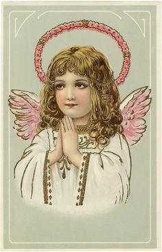 Gorgeous Vintage Angel Pink Wings Image! - The Graphics Fairy