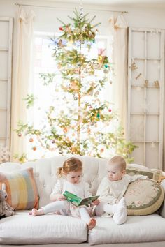 Vintage Whites Blog - I just love this picture from Vintage Whites Blog. Her children are just precious. This is what Christmas is all about.