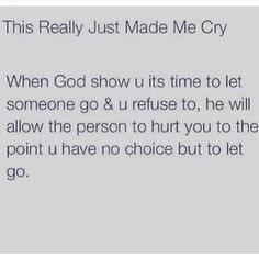Letting go is hard to do when you truly love someone.