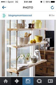 DIY kitchen shelf?