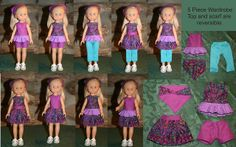 These clothing pieces will go to www.stitchinforkids.org/ They donate Les Cheries dolls along with around ten handmade outfits for each doll to girls in hospitals. To help in the project see the website above.  If you repin, please keep this information with the photo to help spread the news.