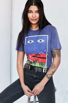 5210f8a8e1f Silence + Noise Lonesome Rider Tee Urban Outfitters Style