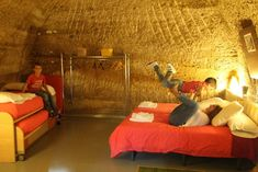 Casas-cueva de las Bardenas. Travel With Kids, Places To Go, Loft, Couch, Bed, Furniture, Home Decor, Camping, Lisbon