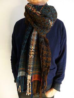 8392e7fecc8 Handwoven scarf by Ilse Acke Men s Scarves