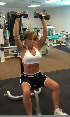 Busty female fitness mature