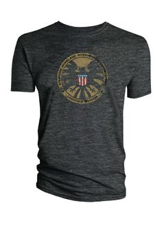 Grey Avengers Shield T-Shirt.
