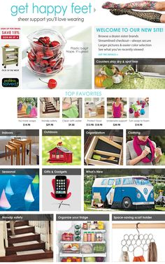 I could spend hours on this site!   Home Organization, Storage & Problem Solvers | Solutions