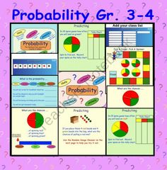 Probability Gr 3-4 Smart Notebook Interactive File product from Teaching-The-Smart-Way on TeachersNotebook.com