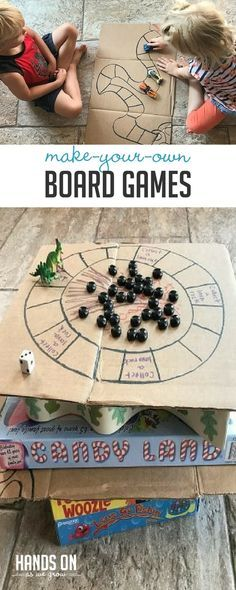 These two super simple DIY board games will keep your kids having fun, while learning, and spending time building relationships and making memories. via @handsonaswegrow