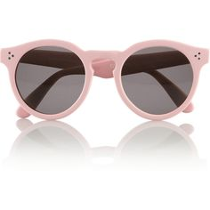 Illesteva + Dasha Zhukova round-frame acetate sunglasses ($370) ❤ liked on Polyvore featuring accessories, eyewear, sunglasses, glasses, fillers, round lens sunglasses, uv protection glasses, uv protection sunglasses, acetate glasses and round sunglasses