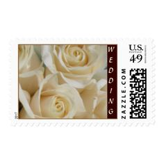 Rose Wedding Thank You Cards Ivory Rose Wedding Collection Postage Stamp