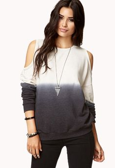 Cutout Ombreé Pullover | FOREVER21 - 2022992672
