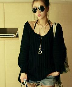 2012-Women-s-Sexy-Deep-V-Backless-Sweaters-Plus-Size-Long-Sleeve-Batwing-Knitted-Sweater-Pullover.jpg (500×604)