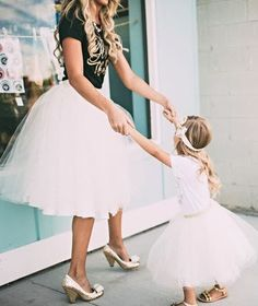 Our beautiful Ashley pleated tulle skirt is now being offered as part of an adorable Mommy and Me set. How sweet would it be to have matching tulle skirts with your little one? Too cute! - 100% Nylon